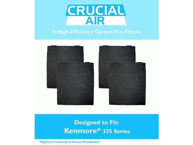 4 Pack High Efficiency Kenmore 335 Series Carbon Pre Filter Compare To Filter Part 83378 Designed And Engineered By Crucial Air Air Filters Newegg Ca