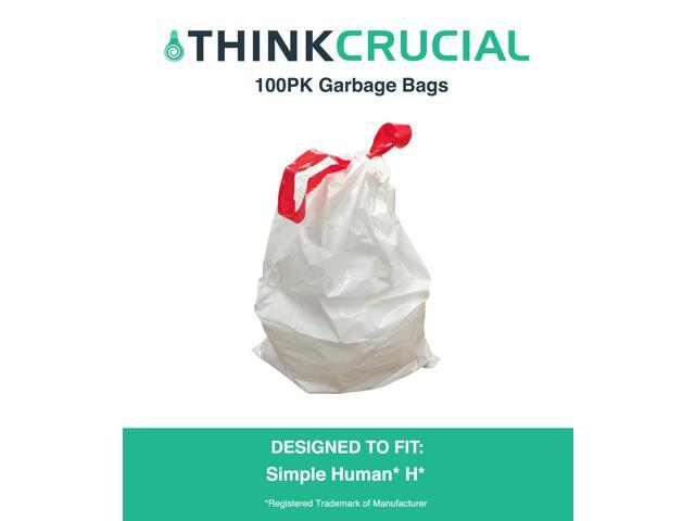 100pk Durable Garbage Bags Fit Simple Human H 30 35l 8 9