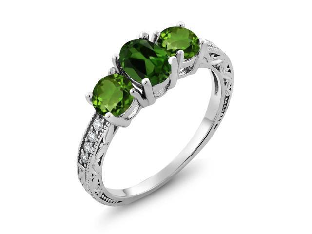 Gem Stone King 1 92 Ct Green 925 Sterling Silver Ring Made With Swarovski  Zirconia - Newegg com
