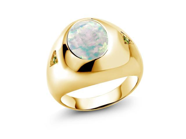 1.36 Ct Oval Pink Mystic Topaz 18K Yellow Gold Plated Silver Ring