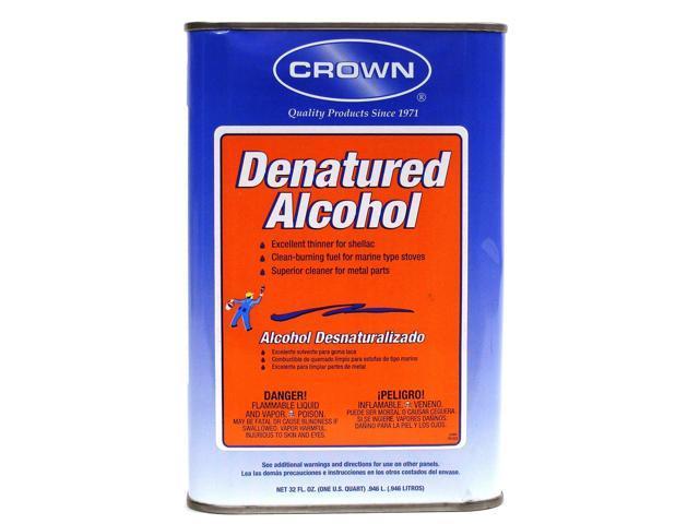 Crown Denatured Alcohol 32 oz  - Newegg com