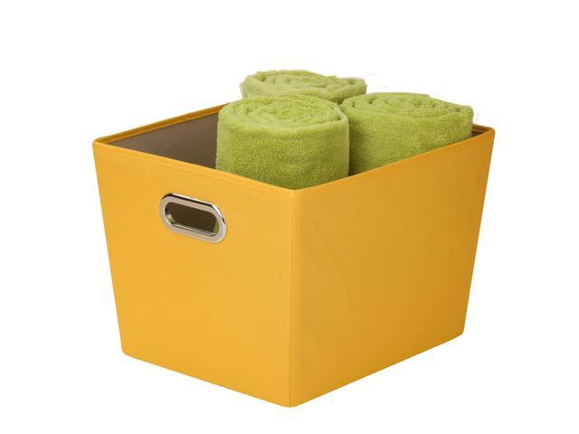 Honey Can Do Medium Decorative Storage Bin With Handles    Yellow    SFT 03069