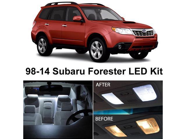 Subaru Forester 1998 2017 Xenon White Premium Led Interior Lights Package Kit 6 Pieces