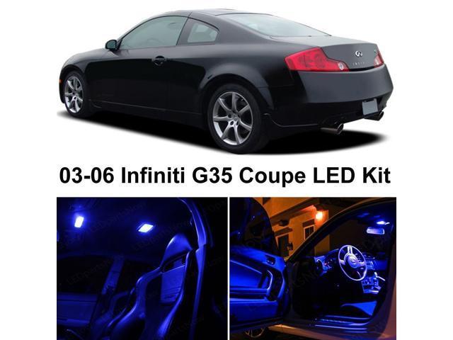 Infiniti G35 Coupe 2003 2006 Blue Premium Led Interior Lights Package Kit 7 Pieces Newegg Com