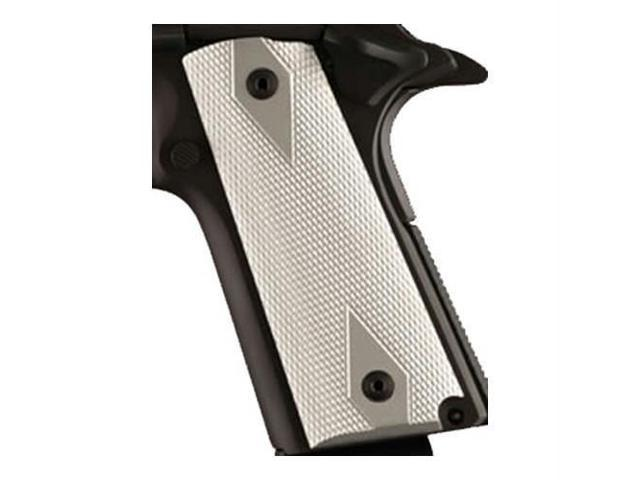 Hogue 1911 Government/Commander 3/16 Thin Grips Aluminum Checkered Brushed  Gloss Clear - Newegg com