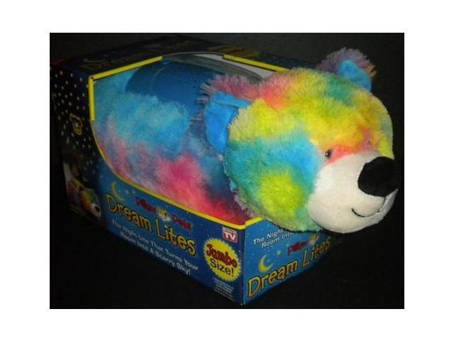 Pillow Pet Jumbo Dream Lites Nightlight Teddy Bear Rainbow Purple Sleep Timer Newegg Com