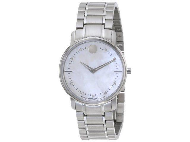 Movado Tc Diamond Mother Of Pearl Dial Stainless Steel Ladies Watch 0606691 Newegg Com