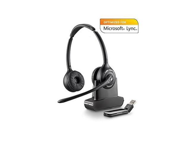 Plantronics Savi W420-M Binaural Over-the-Head USB Wireless Headset with  Mic (Microsoft) (84008-01) - Newegg com