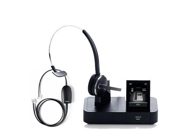 66ac282fdaf Jabra PRO 9470 with 14201-17 EHS for Polycom Wireless Bluetooth Headset  with 3 Wearing
