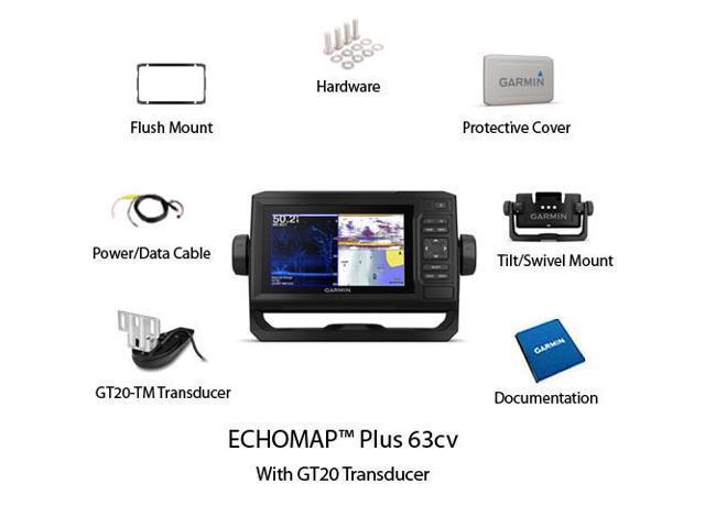 Garmin ECHOMAP Plus 63cv w/ GT20-TM ECHOMAP Plus 63cv w/ GT20-TM -  Newegg com