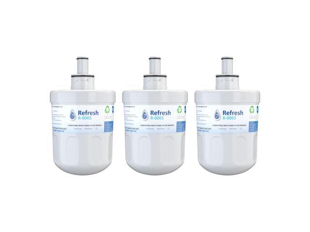 Replacement Water Filter Compatible with Samsung RF267ABRS Refrigerator  Water Filter - by Refresh (3 Pack) - Newegg com