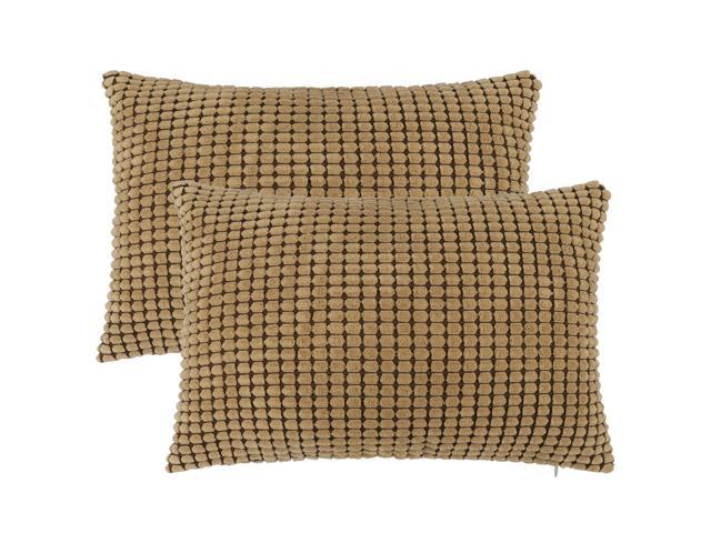 Pack Of 2 Throw Pillow Cases Covers With Zipper Fall Super Soft