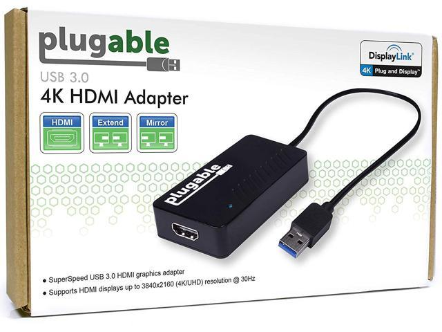 Plugable DisplayLink 4K Monitor Adapter - USB 3 0 to HDMI for Windows -  Newegg com