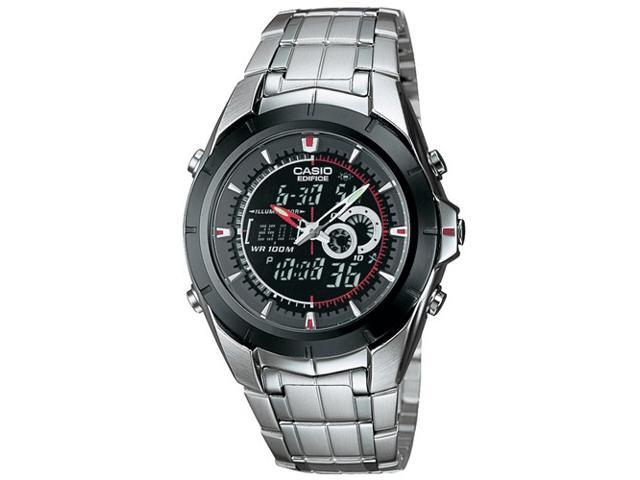 Casio Men's Ana-Digi Edifice Stainless Steel Watch EFA119BK-1AV