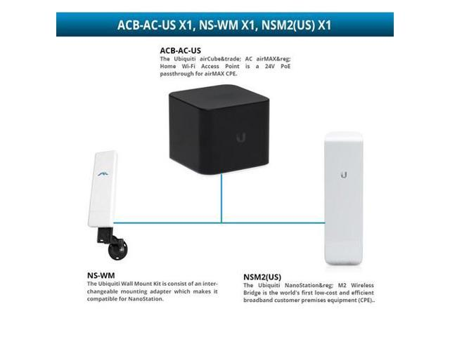 Ubiquiti airCube AC airMAX Home Wi-Fi Access Point with Wireless Bridge and  Wall Mount Kit Access Point - Wireless Bridge - Wall Mount Kit -