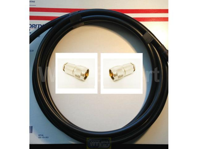 50 FEET RFC600 Antenna Jumper Patch Coax Cable PL-259 Connectors CB HAM RF GPS