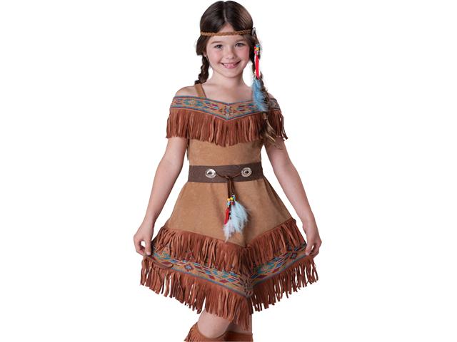 kids indian princess girls native american halloween costume