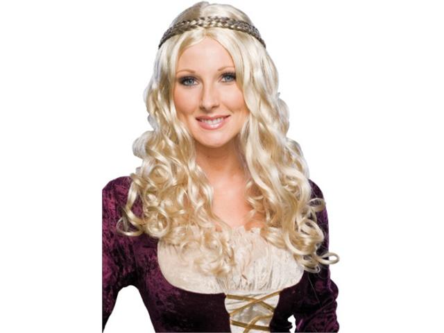f1f5854ce92969 Long Blond Princess Renaissance Girl Costume Wig Blonde ...