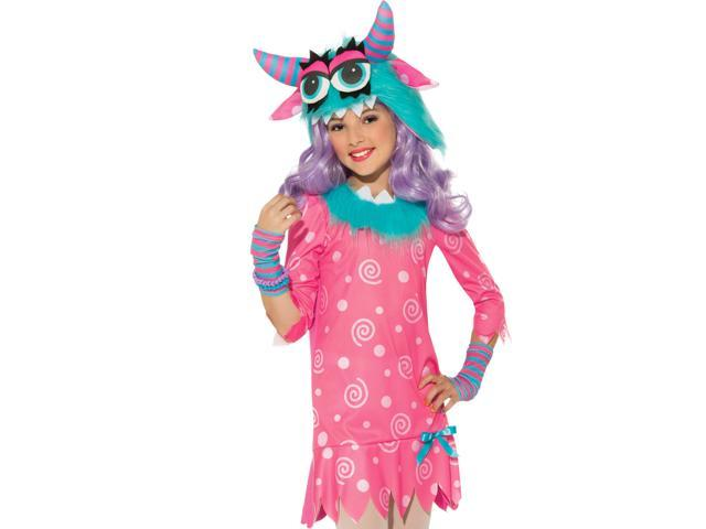 kids girls blue pink monster halloween costume