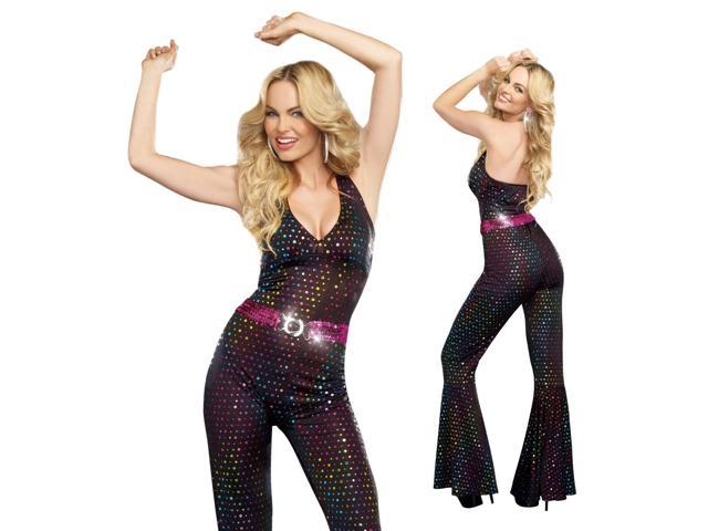 womens sexy funny retro 70s disco halloween costume