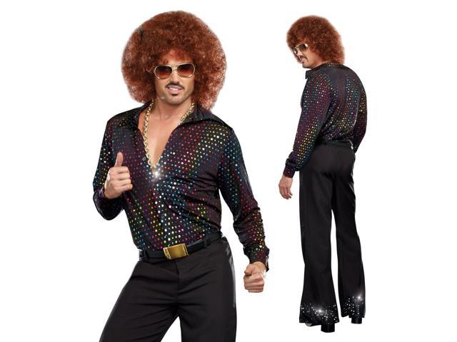 mens funny retro 70s disco halloween costume shirt