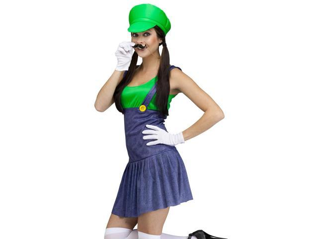 sexy video game plumber brothers green halloween costume