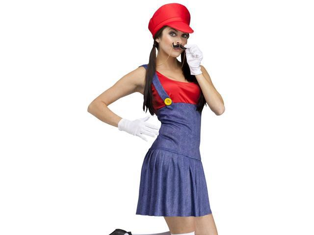 Sexy Video Game Plumber Brothers Red Halloween Costume