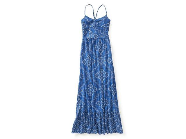 aeropostale womens pattern print maxi dress 449 l