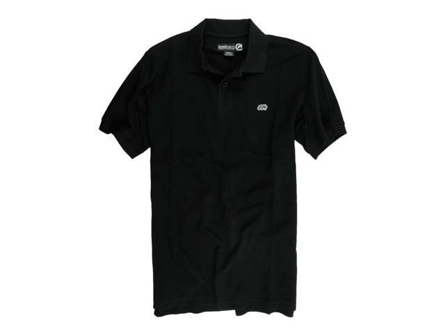 Ecko Unltd Mens Wallburner Solid Color Rugby Polo Shirt Black M