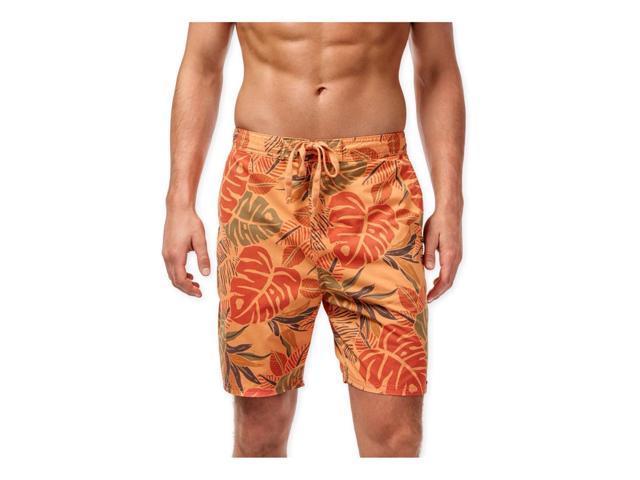 92395f149a Weatherproof Mens Vintage Tropical Swim Bottom Board Shorts flame M
