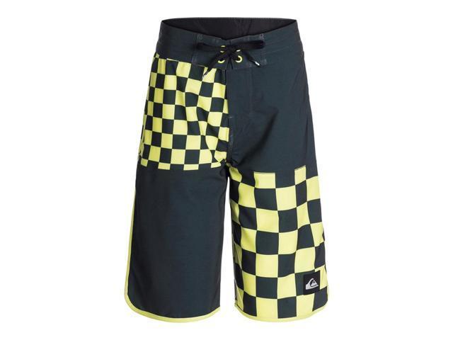 0af2db1832d6d Quiksilver Boys Quad Checkered Swim Bottom Board Shorts splice 28 - Big  Kids (8-