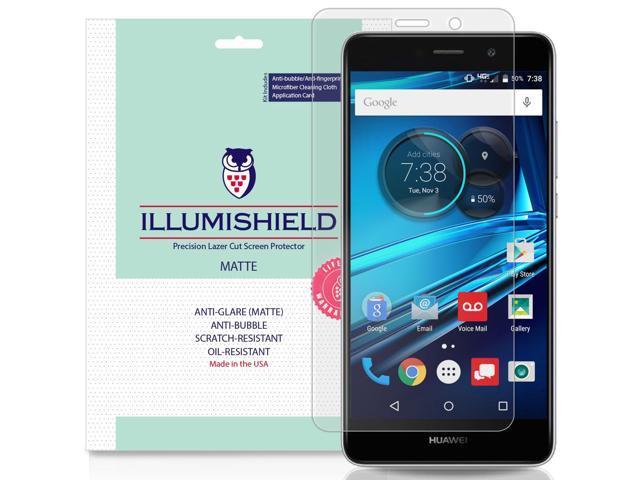 iLLumiShield Matte Screen Protector Compatible with Huawei Ascend XT2  (3-Pack) Anti-Glare Shield Anti-Bubble and Anti-Fingerprint PET Film -