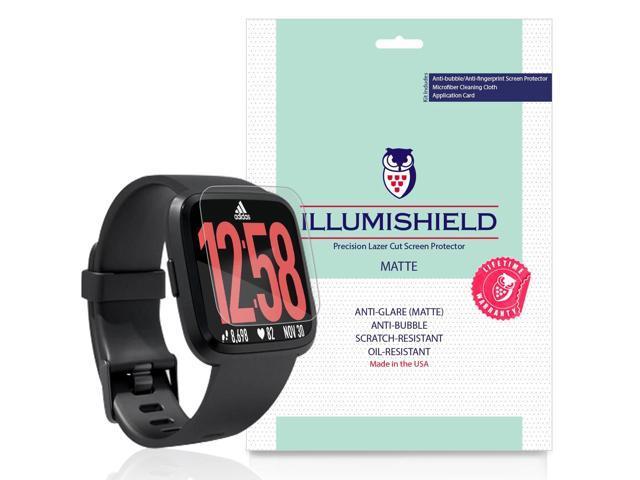 iLLumiShield Matte Screen Protector Compatible with Fitbit Versa (3-Pack)  Anti-Glare Shield Anti-Bubble and Anti-Fingerprint PET Film - Newegg com