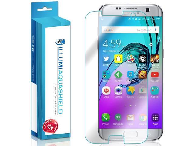 super popular 27ff4 c0e17 ILLUMI AquaShield Screen Protector Compatible with Samsung Galaxy S7 Edge  (2-Pack)(Case Friendly) No-Bubble High Definition Clear Flexible TPU Film -  ...