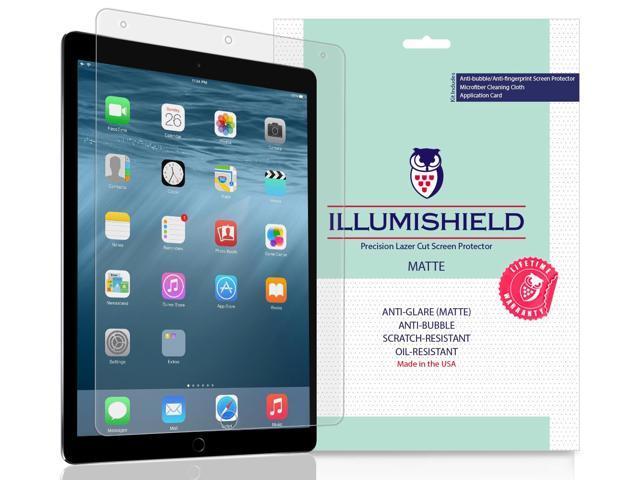 iLLumiShield Matte Screen Protector Compatible with Apple iPad Pro 10 5  (2017)(2-Pack) Anti-Glare Shield Anti-Bubble and Anti-Fingerprint PET Film  -