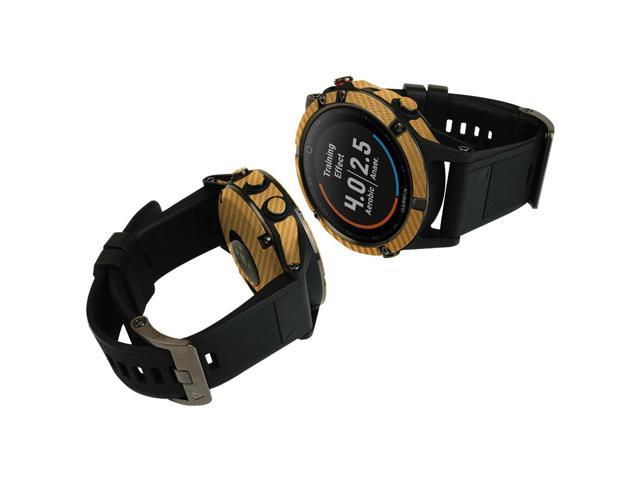 Skinomi Carbon Fiber Gold Skin+Clear Screen Protector for Microsoft Band