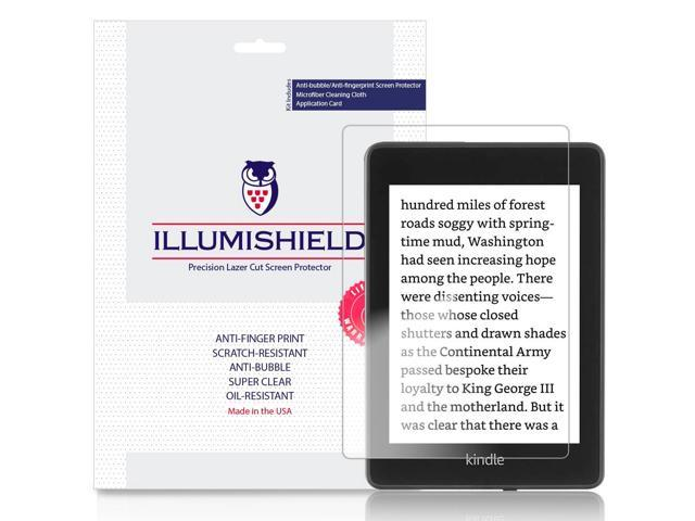 iLLumiShield Screen Protector Compatible with Amazon Kindle Paperwhite  (2018, 6 inch)(3-Pack) Clear HD Shield Anti-Bubble and Anti-Fingerprint PET