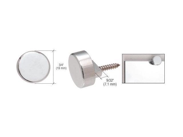 Crl Chrome Round Mirror Clip Set
