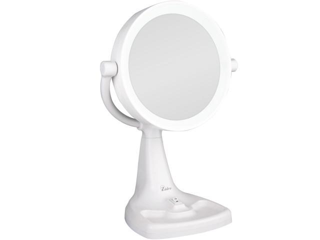 Zadro Max110 Max Bright Sunlight Dual Sided Vanity Mirror White 10x 1x