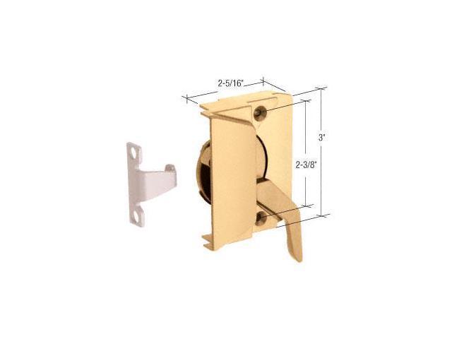 "EP24006 Hand Casement Window Lock w// 2-3//8/"" Screw Holes CRL Gold Rt"