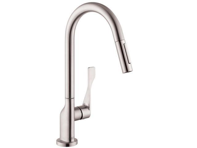 Hansgrohe 39835801 Axor Citterio Single-Handle Pull-Out Sprayer Kitchen  Faucet in Steel Optik