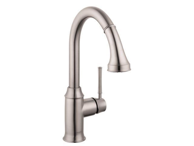Hansgrohe 04215801 Talis C Single-Handle Pull-Down Sprayer Kitchen Faucet In Steel Optik