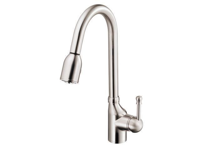 Danze D457015SS Melrose Single-Handle Pull-Down Kitchen Faucet, Stainless  Steel - Newegg.com