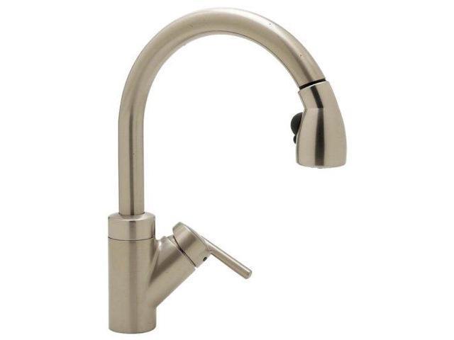 Blanco 440616 Rados Kitchen Faucet with Pull-Down Spray, Satin Nickel -  Newegg.com