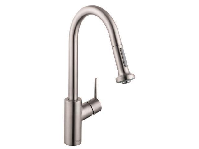 Hansgrohe 14877801 Talis S Single-Handle Pull-Down Sprayer Kitchen Faucet  in Ste
