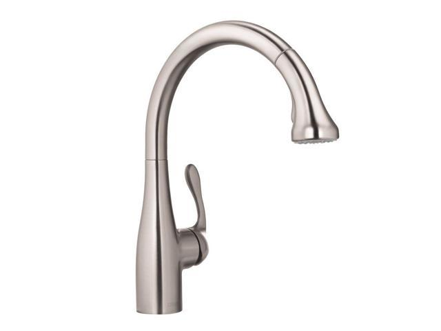 Hansgrohe 04066861 Allegro E Single-Handle Pull-Out Sprayer Kitchen Faucet In Steel Optik