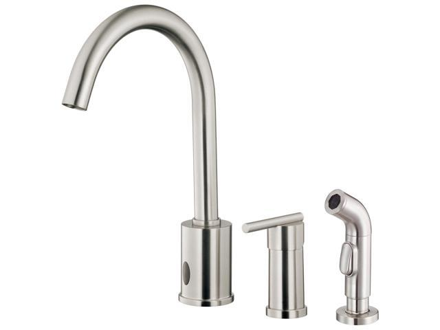 Danze D423058SS Parma Single Handle Dual Control Kitchen Faucet with Spray  in Stainless Steel