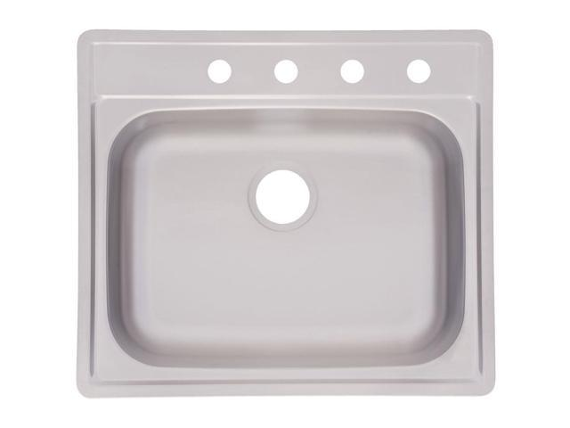 "Franke FSS804NB Top-Mount Stainless-Steel 21-1/4"" x 24-1/4"" Single Bowl Kitchen Sink"