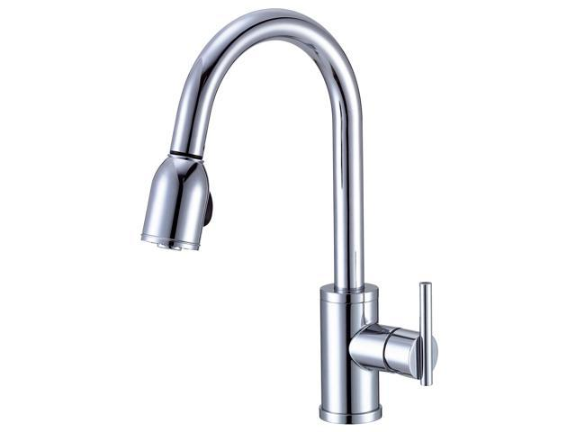 Danze D457058 Parma Side Mount Single-Handle Pull-Down Sprayer Kitchen  Faucet in Chrome