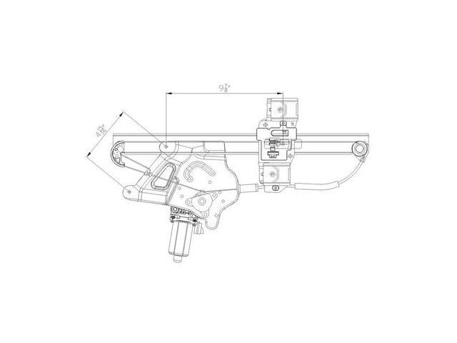 Front Right Window Regulator Fits 00 05 Buick Le Sabre